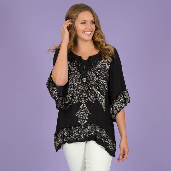 Blooming Sun Ruffle Tunic