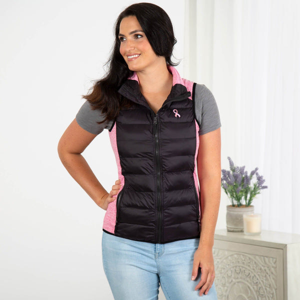 Pink Ribbon Women's Quilted Vest