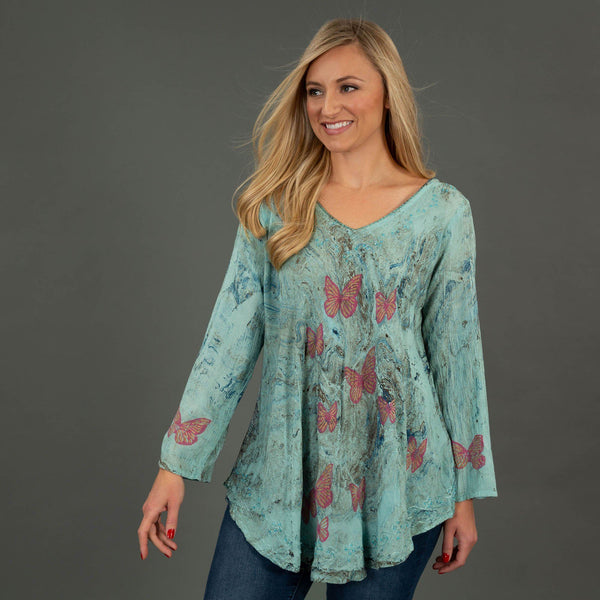 Follow The Sun Long Sleeve Tunic