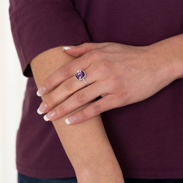 Classic Cut Sterling & Amethyst Ring