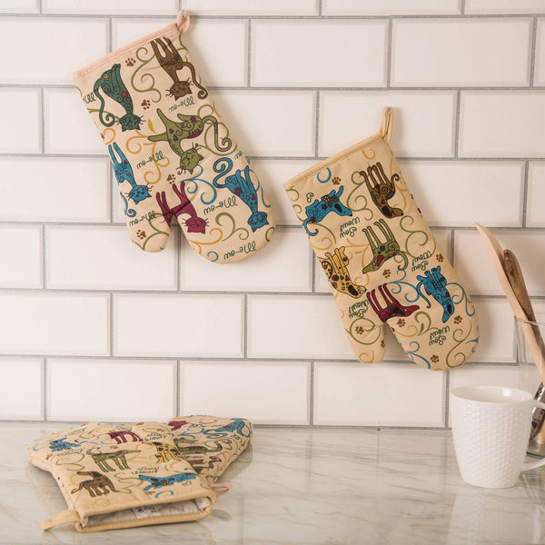Festival Pets Oven Mitts - Set Of 2