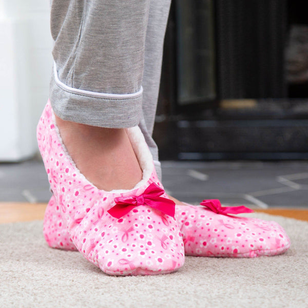 Super Cozy™ Pink Ribbon Women's House Slippers