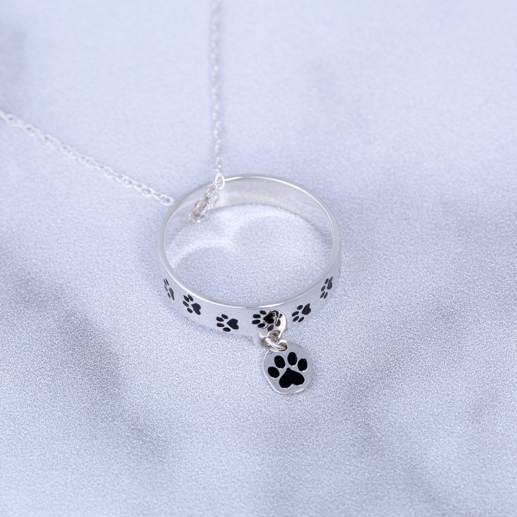 Love Protect Adopt Three-Ring Necklace