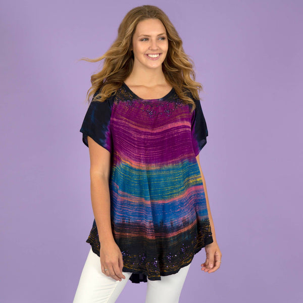 Brushed Sky Tunic