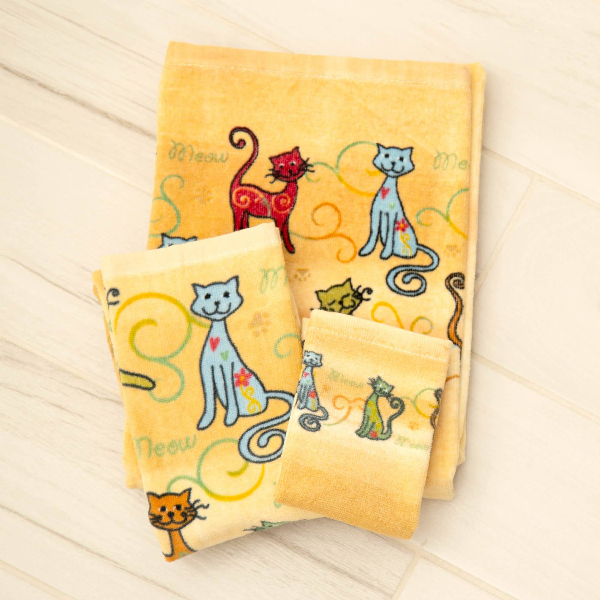 Personalised Cat Embroidered Towels Cat 83