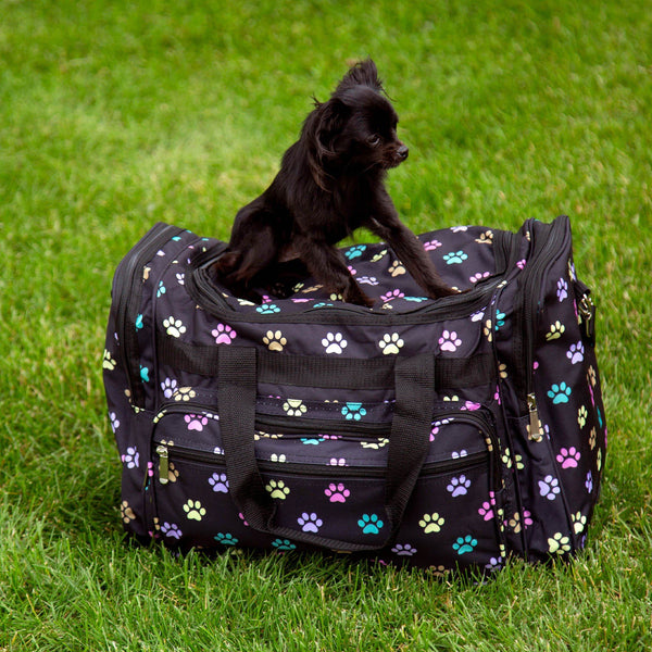 I Love Paw Prints Travel Bag