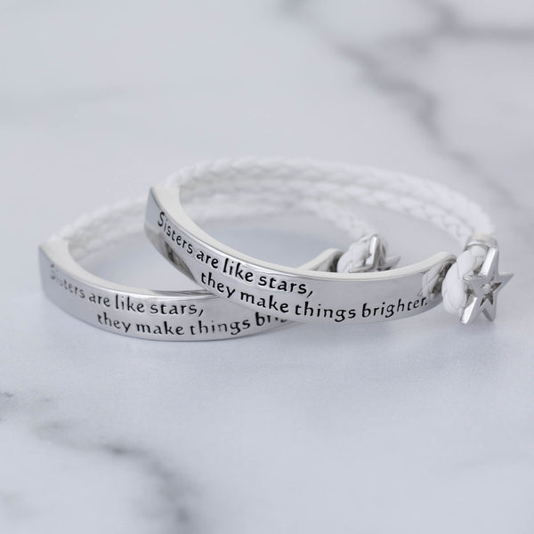 Sisters Are Like Stars Braided Bracelet