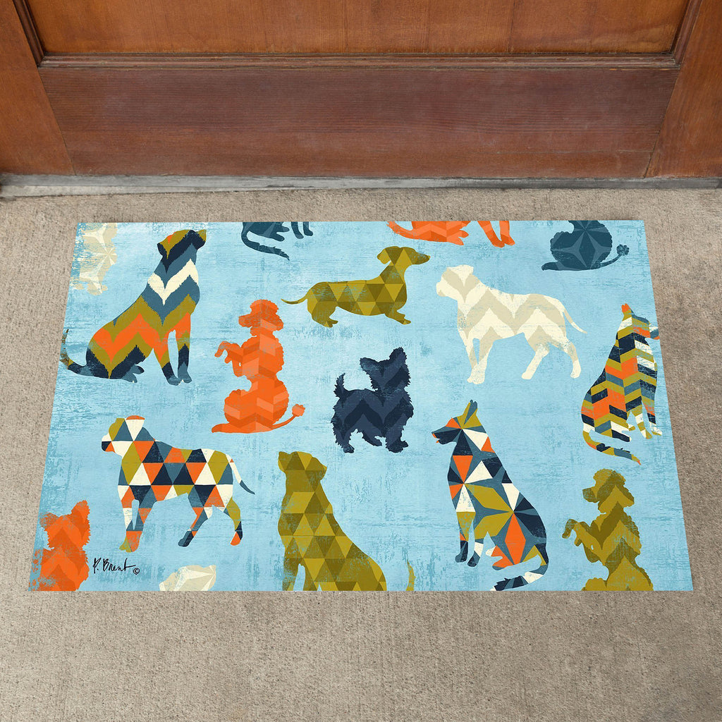 Toland Dog Pattern Door Mat
