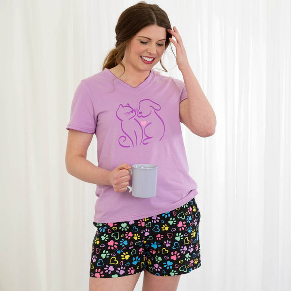 Paws & Hearts Aplenty Pajama Shorts Set