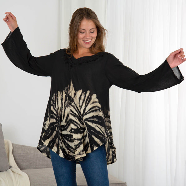Shadows Of The Moon Long Sleeve Tunic