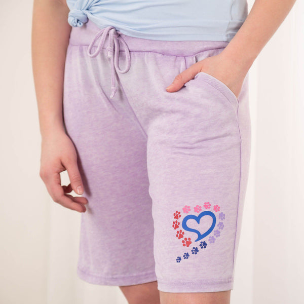 Paws To My Heart Burnout Board Shorts
