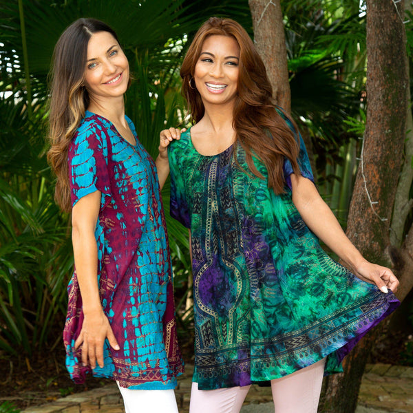 Tie-Dye Spirit Art Deco Tunic