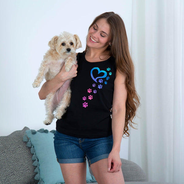 Rainbow Paws To My Heart Tank Top