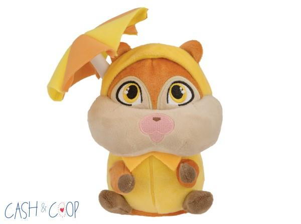 2-in-1 Raincoat Squirrel Dog Toy