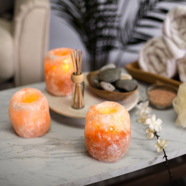 Himalayan Natural Salt Crystal Candle Holder