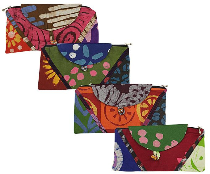 Recycled Cotton Patchwork Clutch