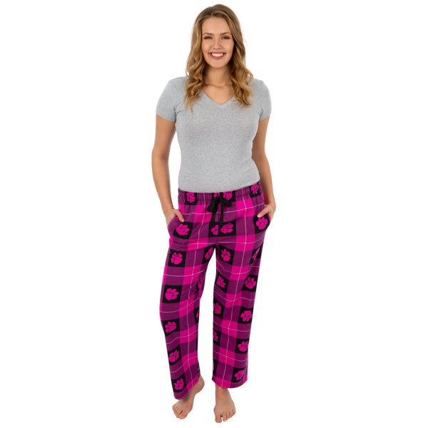 Flannel Berry Paw Lounge Pants