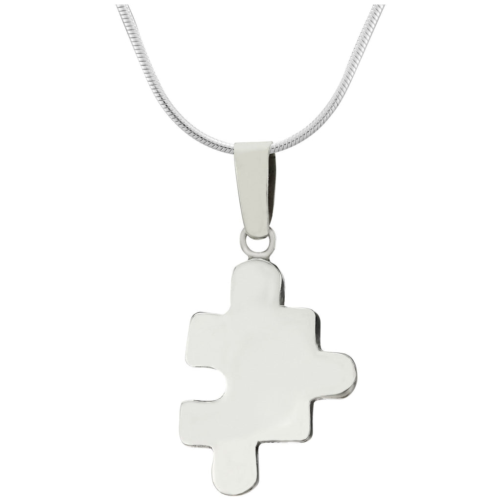3D Puzzle Piece Sterling Necklace