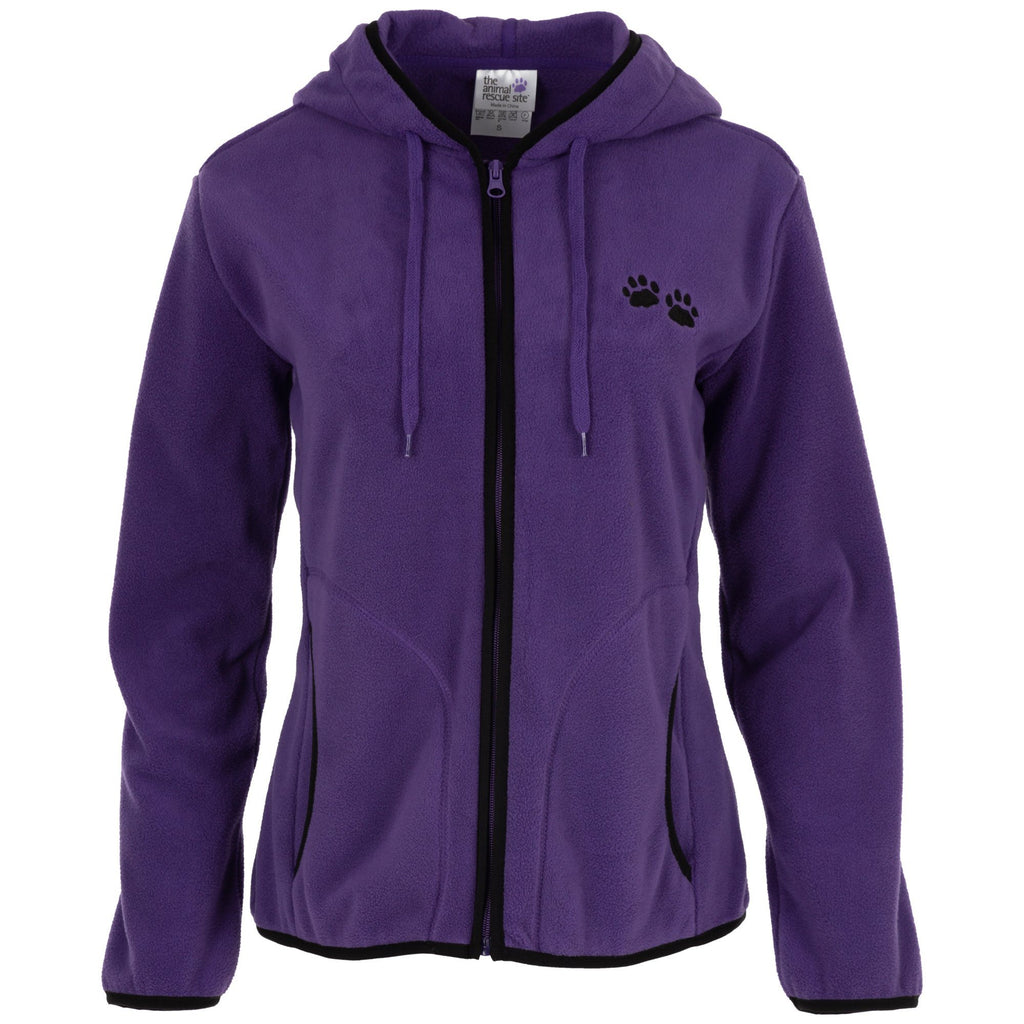 Purple Paw Trimmed Polar Fleece Jacket