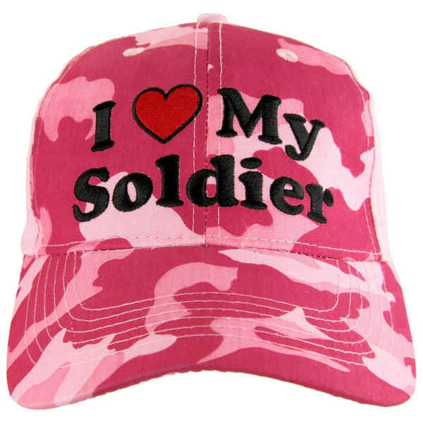 I Heart My Soldier Baseball Hat
