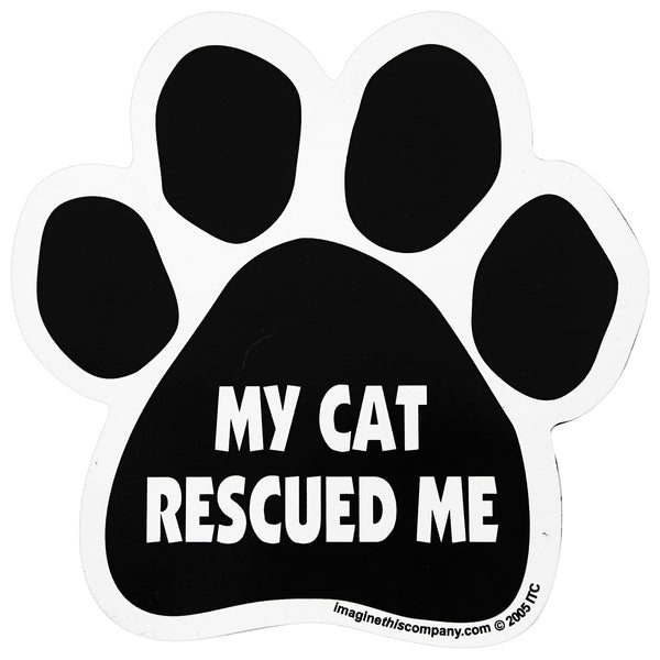 My Cat Rescued Me Car Magnet