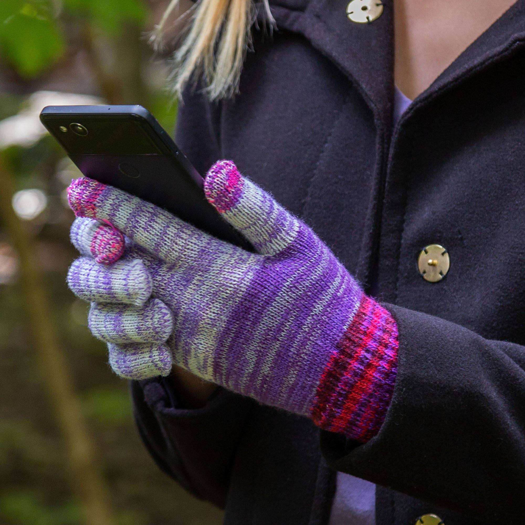 Rainbow Delight Touch Screen Gloves  GreaterGood