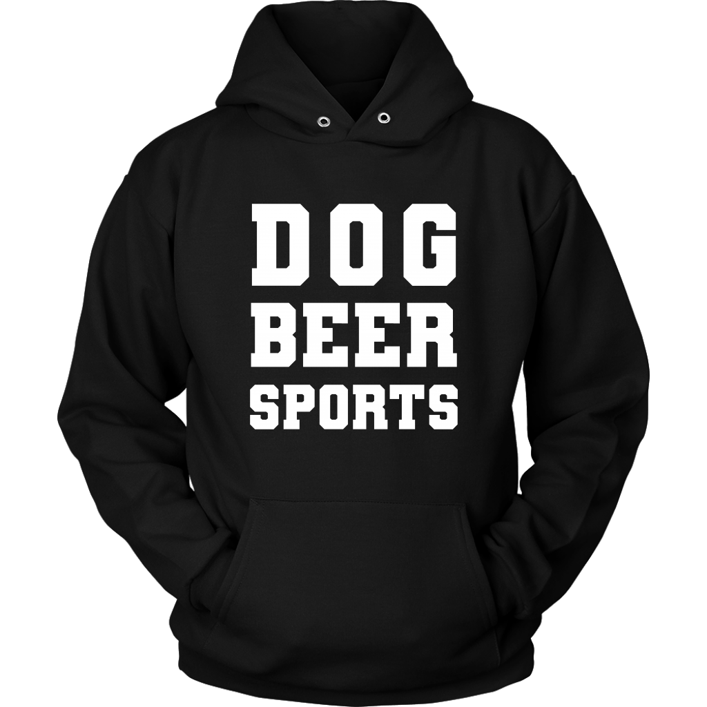T-shirt - Dog Beer Sports Hoodie