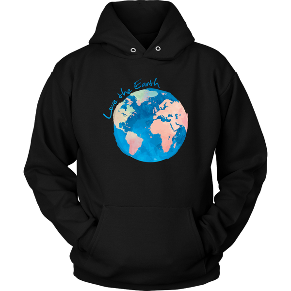 Watercolor Earth Hoodie