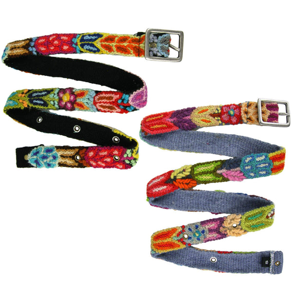 Skinny Peruvian Blooming Belt