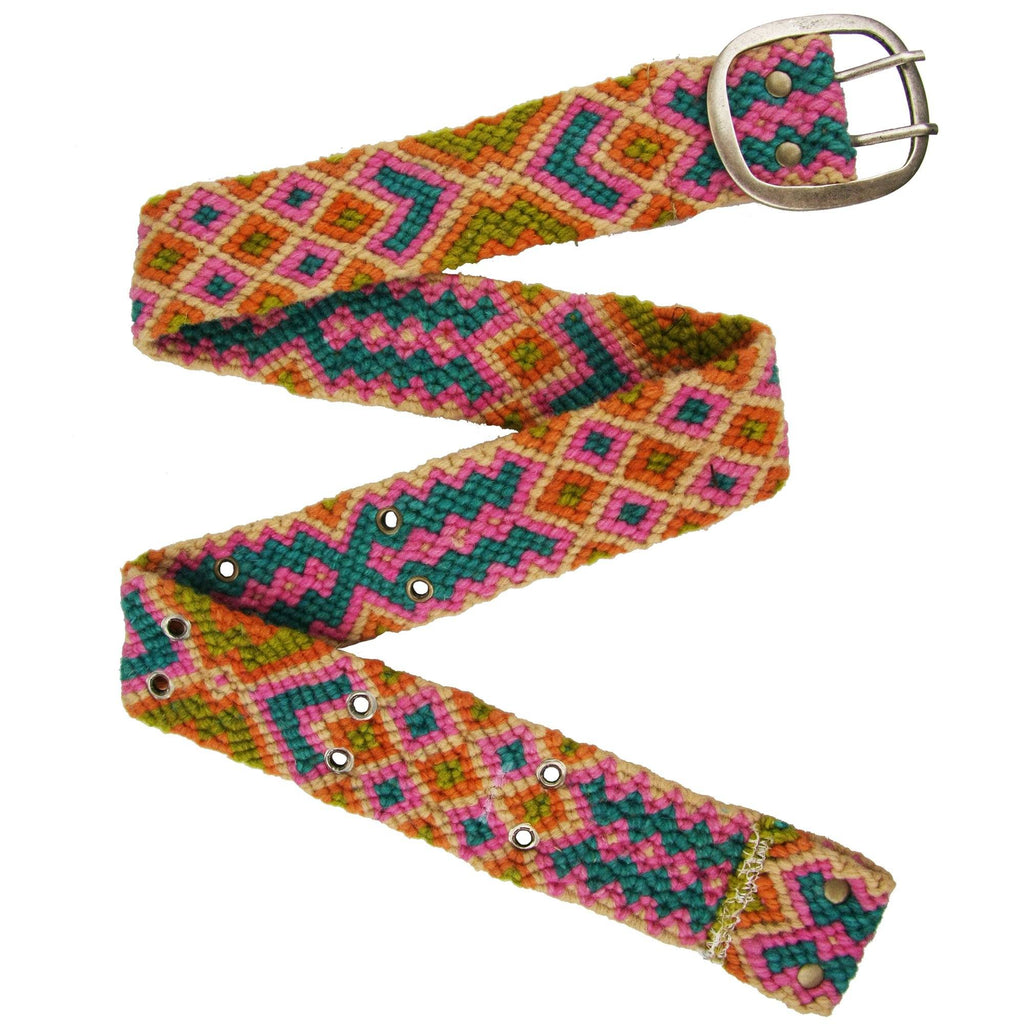 Geometric Knotted Wool Belt