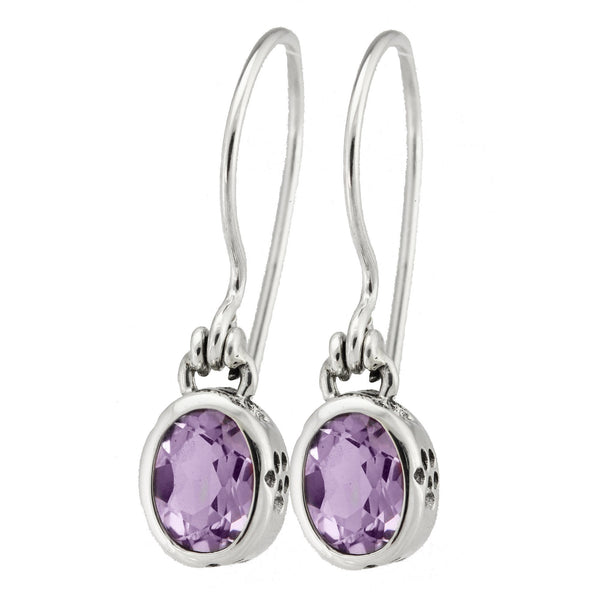 HSUS Sterling & Amethyst Balinese Paw Earrings