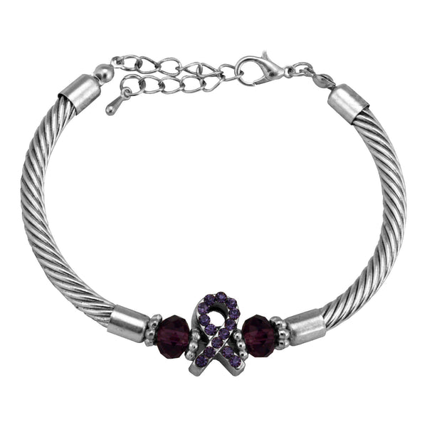 Alzheimer's Awareness Cable Bracelet