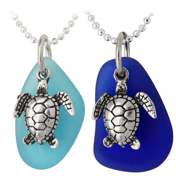Turtle & Seaglass Necklace