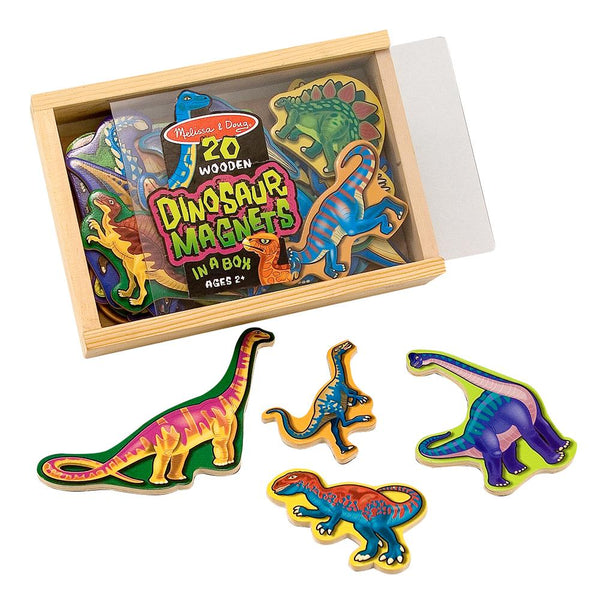 Wooden Dinosaur Magnets In A Box