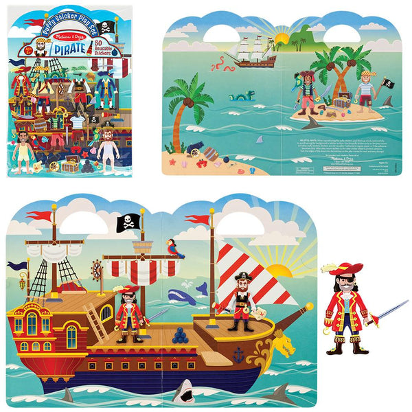 Pirate Puffy Stickers Play Set