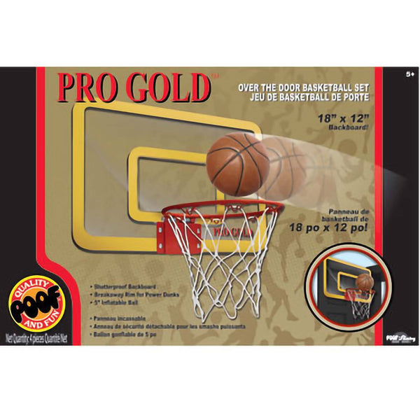 Pro Gold™ Over The Door Basketball Set