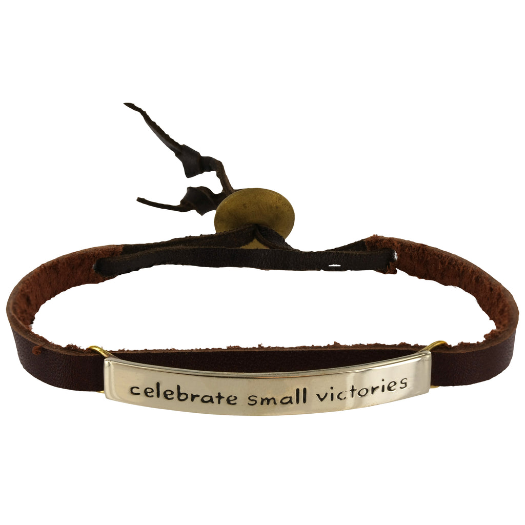 Celebrate Small Victories Leather Bracelet