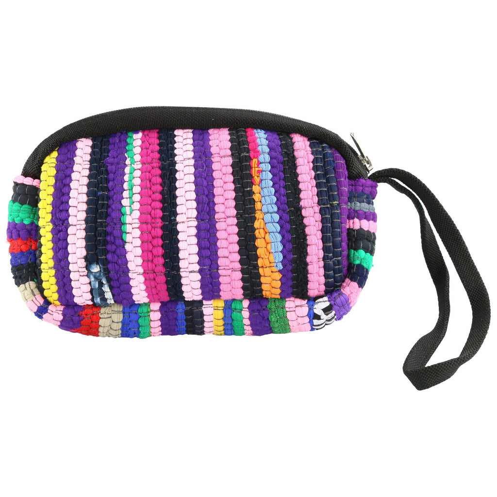 Color Burst Recycled Wristlet