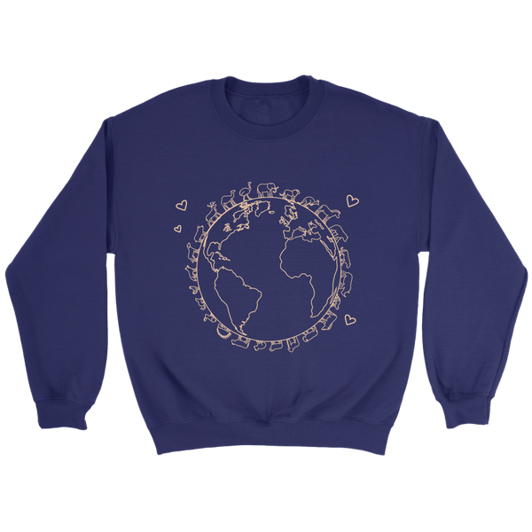 T-shirt - Love The Earth Crewneck Sweatshirt