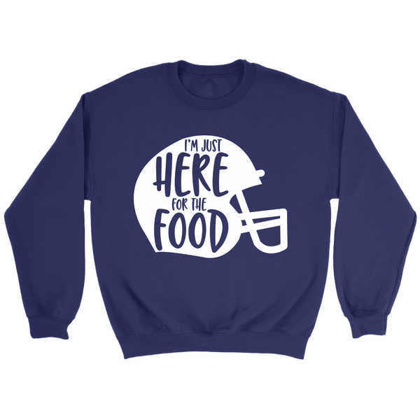 T-shirt - Here For The Food Crewneck Sweatshirt