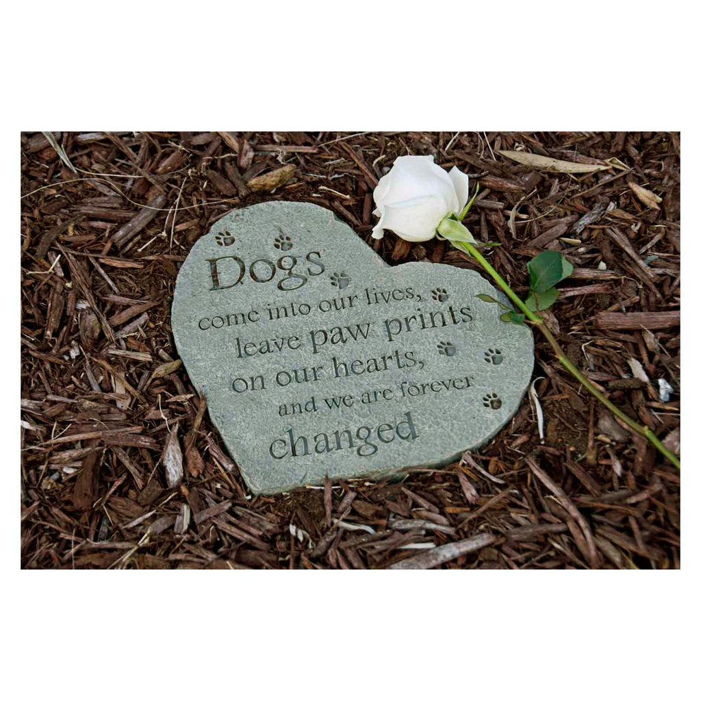 Dogs Leave Paw Prints Resin Memory Stone