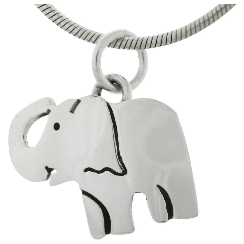 Sweet Elephant Sterling Necklace