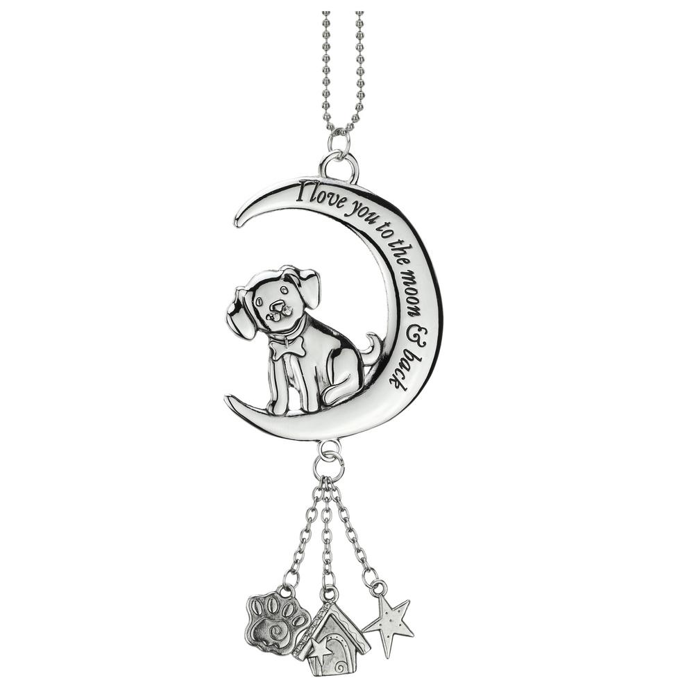 Love You To The Moon & Back Puppy Car Charm