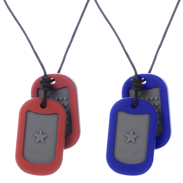 Juniorbeads™ Dog Tag Teething Necklace