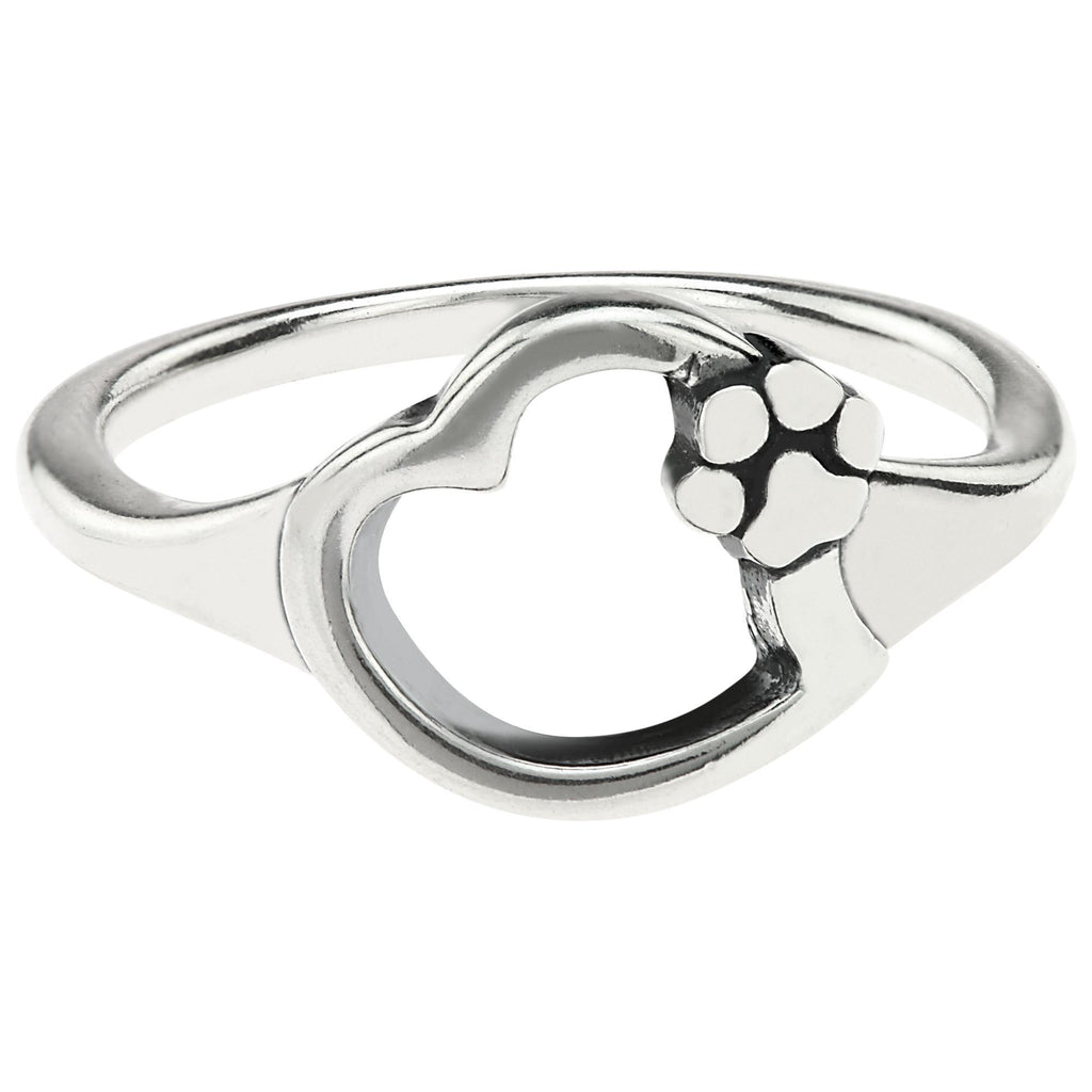 Paws In My Heart Sterling Ring