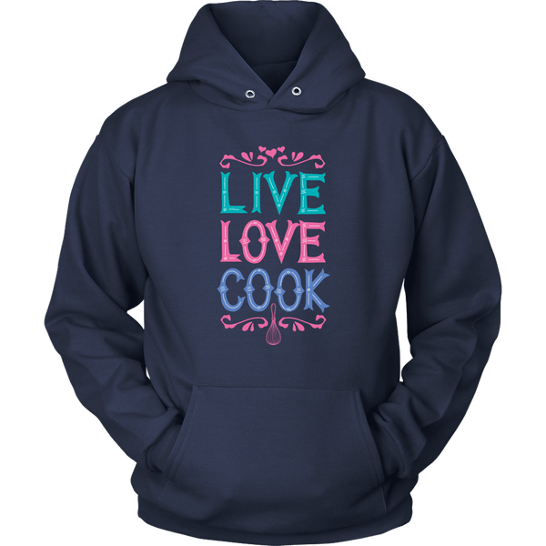 T-shirt - Live Love Cook Hooded Sweatshirt