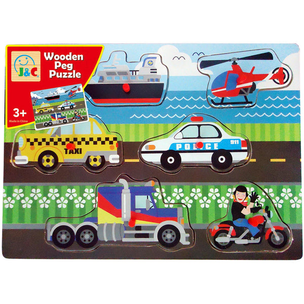 Vehicles Peg Puzzle