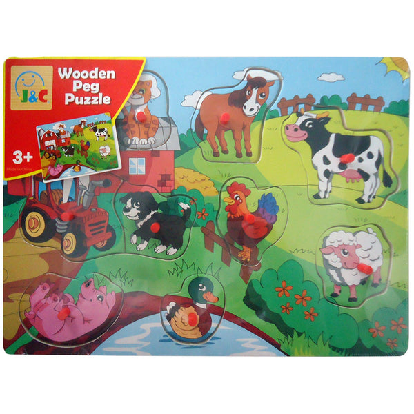 On The Farm Peg Puzzle