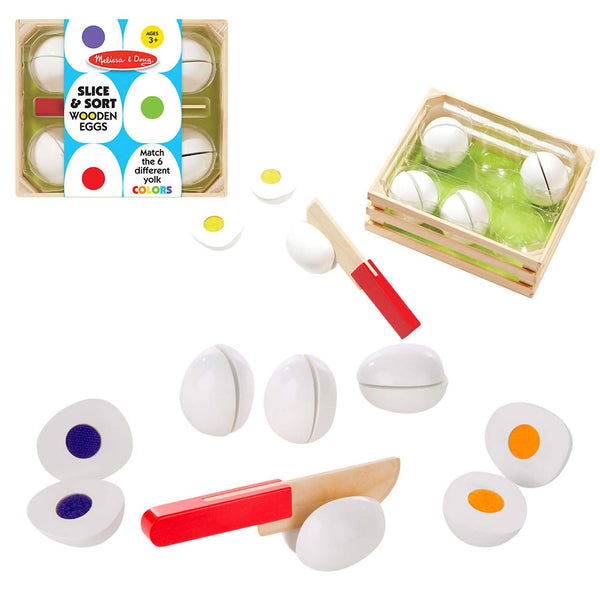 Slice & Sort Wooden Eggs Set