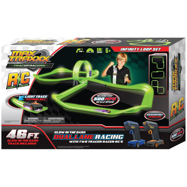 Max Traxxx™ Tracer Racer RC Infinity Loop Set